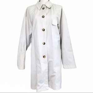 Beige RainCoat Jacket Fully Lined removable liner